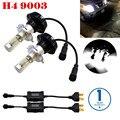 2Pcs/Set H4/HB2/9003 G7 LED Car Headlight Bulbs w/ Clear Arc-Beam Kit 160W 10000LM 6000K-6500K White PhilipsLuxeon ZES LED Bulbs