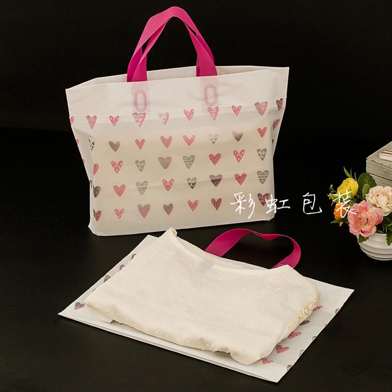 Hot Sale New Style Wholesale 10pcs sweet love Shopping Bags polish Plastic Gift