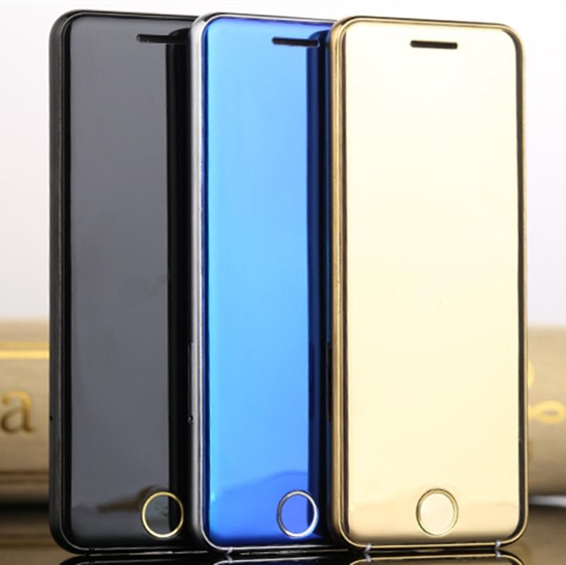 Téléphone de luxe ULCOOL V66 Original Super Mini téléphone de carte ultra-mince avec MP3 Bluetooth 1.67 pouces cellule mobile antipoussière antichoc