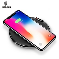 BASEUS Qi Wireless Charger Pad Desktop Charging Mat For IPhone X 8 Plus Samsung S8 S7