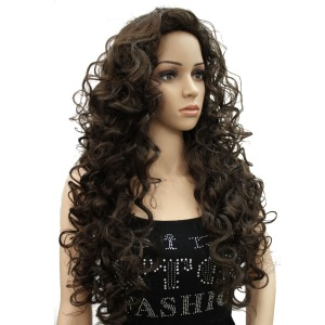 Long Curly Wig Women's Synthet