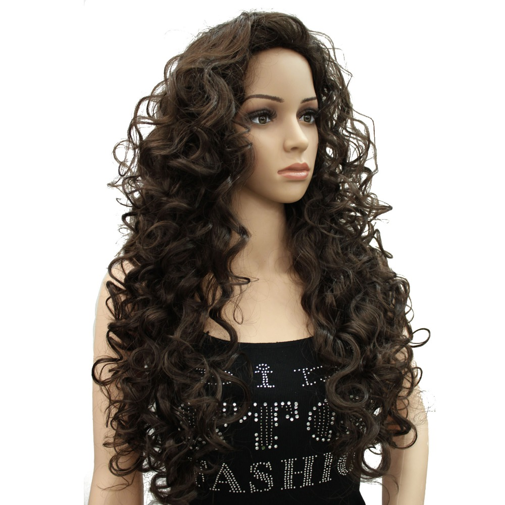 StrongBeauty Women s Wigs Blonde Black Long Curly Hair Synthetic Full Wig 9 Color