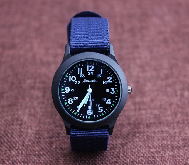 Quartz-Watch Watch-Promotion Girls Kids Sports Fashion Boy Nylon Luminous-Pointer New-Arrived