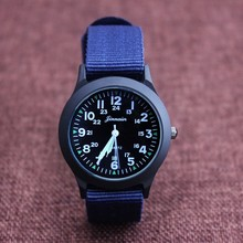 New arrived boy fashion sports nylon watch promotion kids Luminous pointer quartz watch girls casual watch