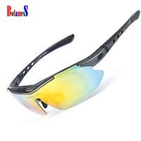 OBAOLAY Sunglasses Polarized Unisex Cycling Sunglasses MTB Bicycle Riding Protection Fishing Eyewear 5 Lens With Myopia