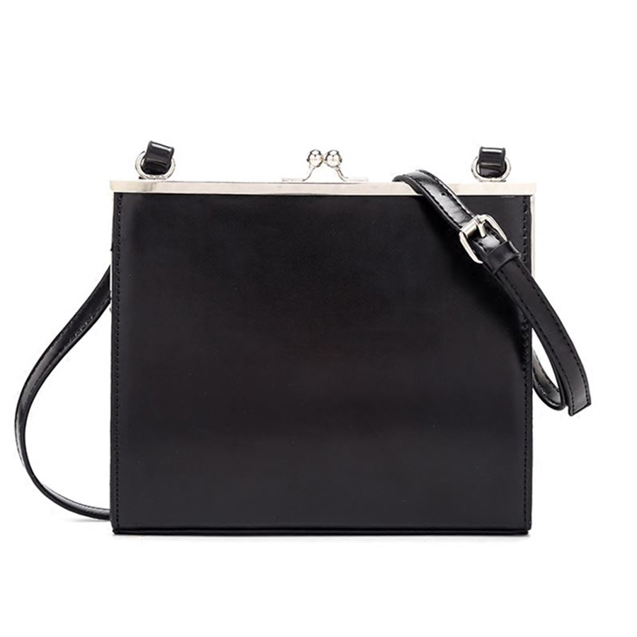 Casual Clip Bag Women Messenger Bag PU Leather Black 2019 Lady Shoulder Crossbody Bag Brands All-match Tote Bags Ins Purse Sac