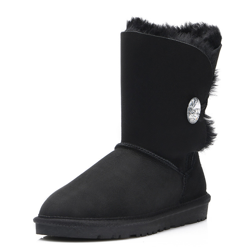 UVWP High Quality Women's Genuine sheepskin leather Snow Boots 100% natural fur snow boots Warm Wool Winter Boots Women Boots mundorf mkp mcap supreme silver oil 1000 vdc 2 2 uf