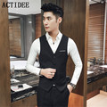 2017 New 5 Colors Spring Autumn New Vests Men Fashion Brand Waistcoat Male Casual Suit Vest Men Plus Size 3XL 4xl 5xl