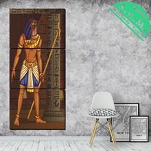 купить!  3 шт. Египетская пирамида меценат святой холст искусство декоративные картины стены плакат