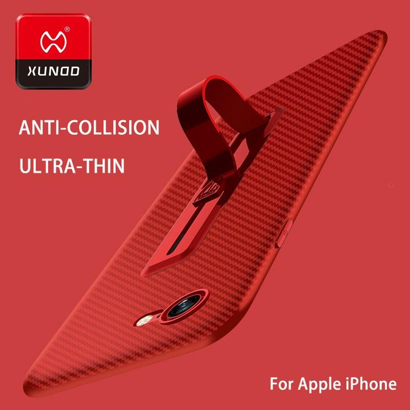 Ultra sottile Nuovo Per il iphone 7 6 S 8 Plus anello fibbia telefono Per il caso di iphone X 10 staffa di lusso TPU Silicone 360 Protetto Pieno caso