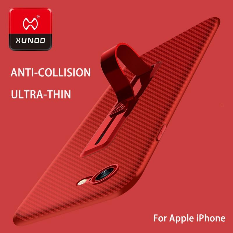 Ultra delgado de Nuevo Para el iphone 7 6 S 8 Plus anillo hebilla de teléfono caso Para el iphone X 10 lujo soporte TPU de Silicona 360 Protegida Plena caso
