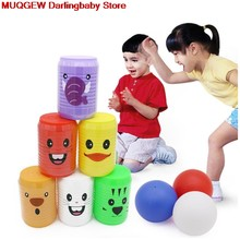 Attractive Interactive Parenting Indoor Cartoon Bowling Fun Funny Gadgets Novelty Interesting Toys For Children Birthday Gift(China)