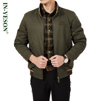 New IN YESON Brand Men S Jacket Military Style Cotton Stand Collar Reversible Jacket Men Both