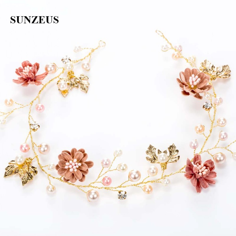 003a0374b Pearls Flowers Children Headband Stunning Girls First Communion Hair  Decoration Bridesmaid Garland SG11