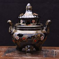 Copper incense burner copper incense burner incense sandalwood disc inserted antique rooms for the Buddh
