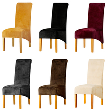 Real Velvet XL Sizes High Long Back Europe Style Chair Cover Seat Chair  Covers For Restaurant