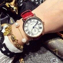 Mulheres Moda de luxo Assistir Mulheres De Couro relógio de Pulso de Quartzo Senhoras Vestido Assista Reloj Mujer Montre Femme relógios orologi donna
