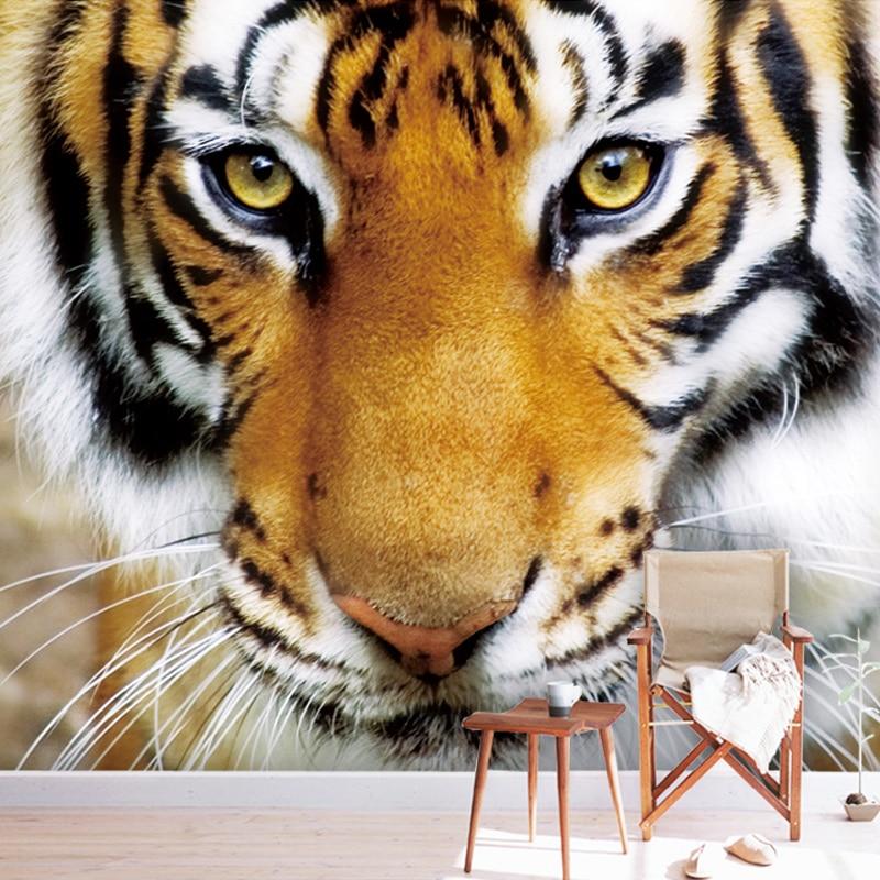 Custom 3D Photo Wallpaper Tiger Animals Restaurant Cafe Living Room Bedroom Sofa Background Non-woven 3D Wall Murals Wallpaper
