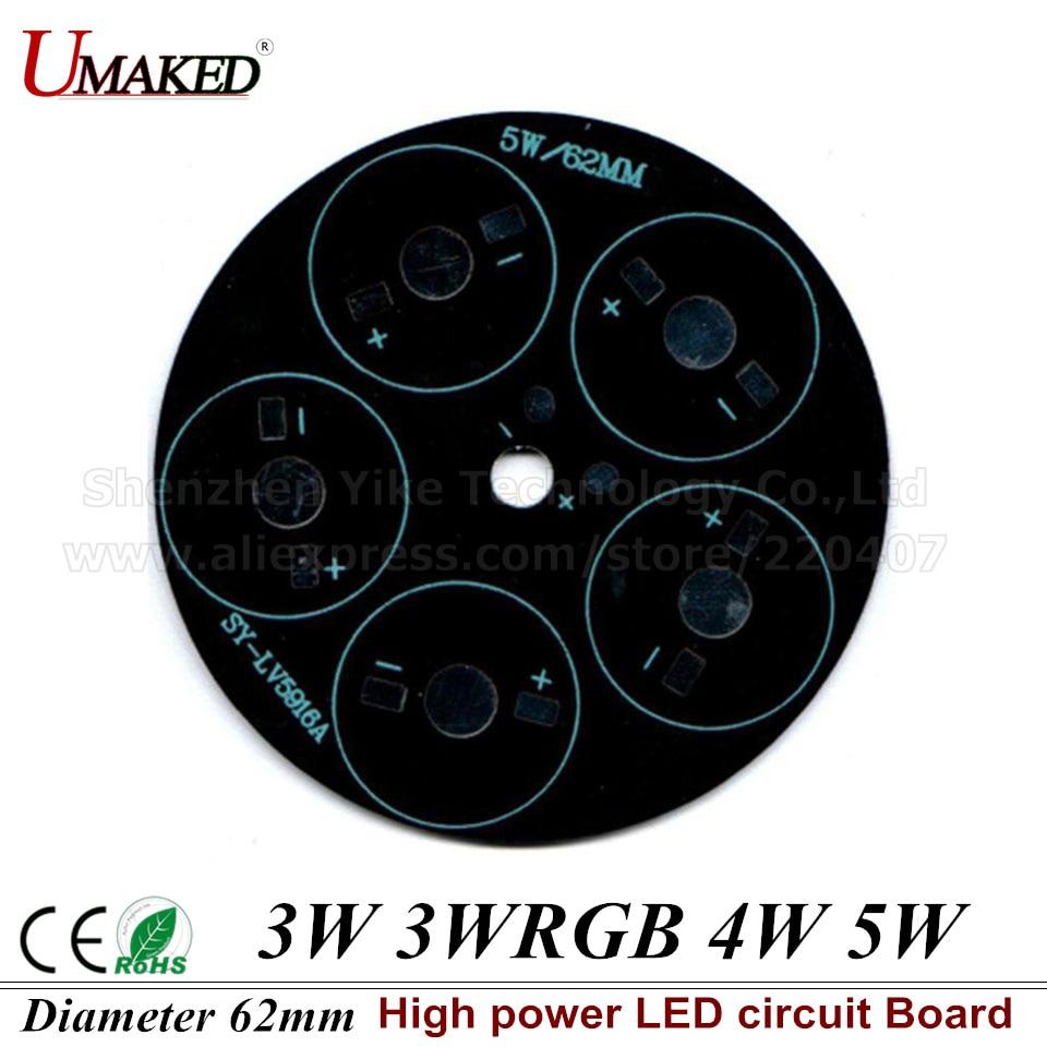 3W <font><b>4W</b></font> 5W 62mm Heat Sink <font><b>LED</b></font> Aluminum Base Plate PCB Board Substrate 62mm PCB DIY Cooling Heatsink for street light
