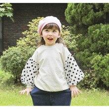 Весенний свитер для девочек, детский пуловер в горошек, худи, хлопковая одежда для маленьких девочек, детская одежда для девочек, верхняя одежда CA789