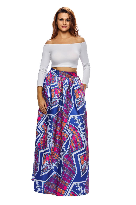 Длинная юбка разноцветная