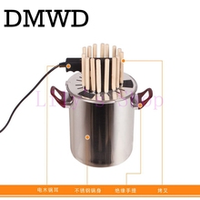 Household electric grill Vertical kebab grill smokeless rotisserie stainless steel electric BBQ barbecue machine 15-18 skewers
