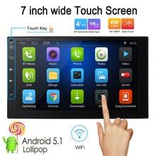 KKmoon 2 Din HD Écran Tactile Voiture Stéréo Radio Lecteur GPS Navigation Multimédia Divertissement Système WiFi BT AM/FM Android 5.1