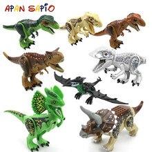 Big Size jurajski dinozaur klocki klocki Model klocki edukacyjne zabawki dla dzieci