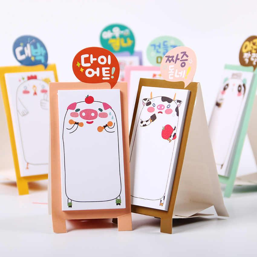 1PC น่ารักการ์ตูนสัตว์แมว Panda Memo Pad Sticky Notes Memo โน้ตบุ๊คเครื่องเขียนหมายเหตุสติกเกอร์กระดาษอุปกรณ์โรงเรียน