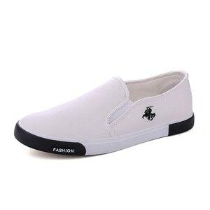 Image 2 - ZYYZYM أحذية أنيقة الرجال بو الجلود الرجعية تنفس الرجال حذاء خفيف في الهواء الطلق المتسكعون المشي Slacker حذاء رجالي