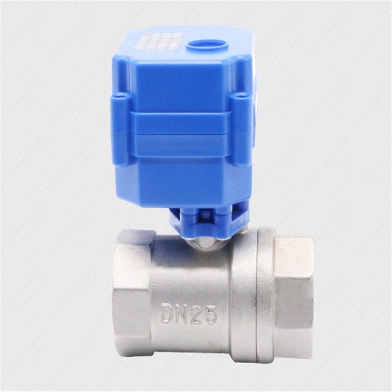 I inch DN25 robinet à tournant sphérique motorisé en acier inoxydable DC5V 12 V 24 V AC220V vanne à eau électrique 1 & quot CR01 CR02 CR03 CR04 CR05