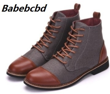 Babebcbd Fashion Men Comfortable Brogue Shoes Men Casual Boots big size 48 Men Shoes Spring Autumn Ankle Boot