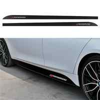 1pair Performance Side Skirt Sills Car Stickers For BMW F30 F31 F32 F33 F15 F16 F10 E60 E61 Carbon Fiber Vinyl Decals