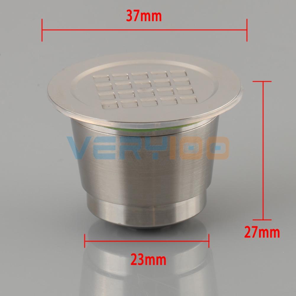 Capsule d/'acier inoxydable de 2-Gen pour la machine de Nespresso réutilisable