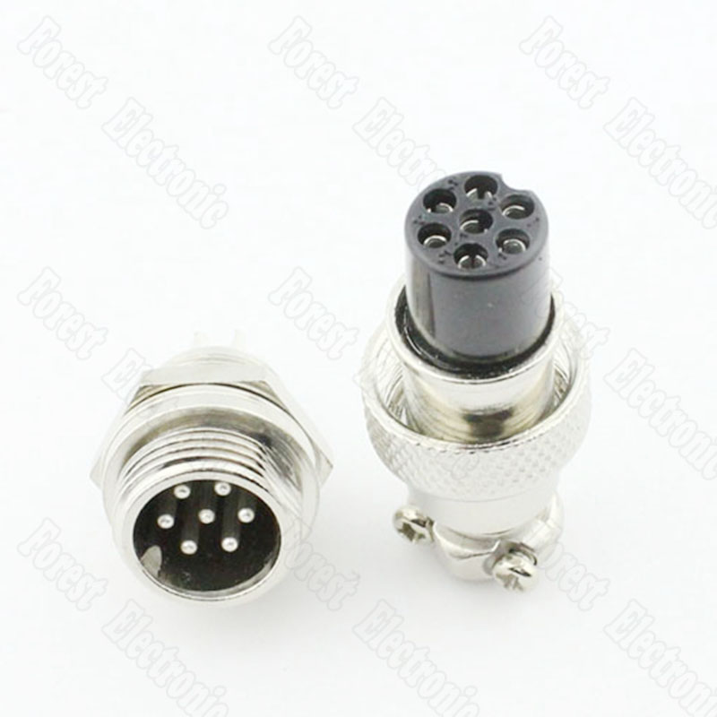 6 Pin Air Connector Plug GX12-6P One Set