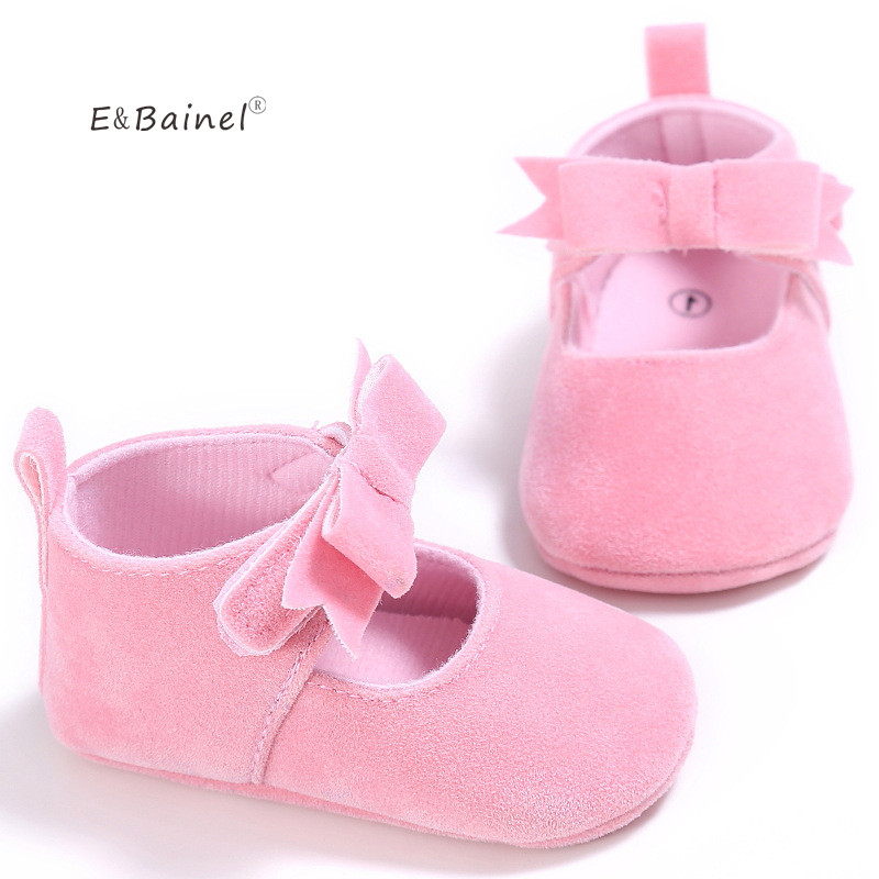 E&Bainel New Baby PU   Leather     Suede   Shoes Moccasins Newborn Baby Girls Sneakers Soft Infants Crib Sneakers First Walkers Shoes