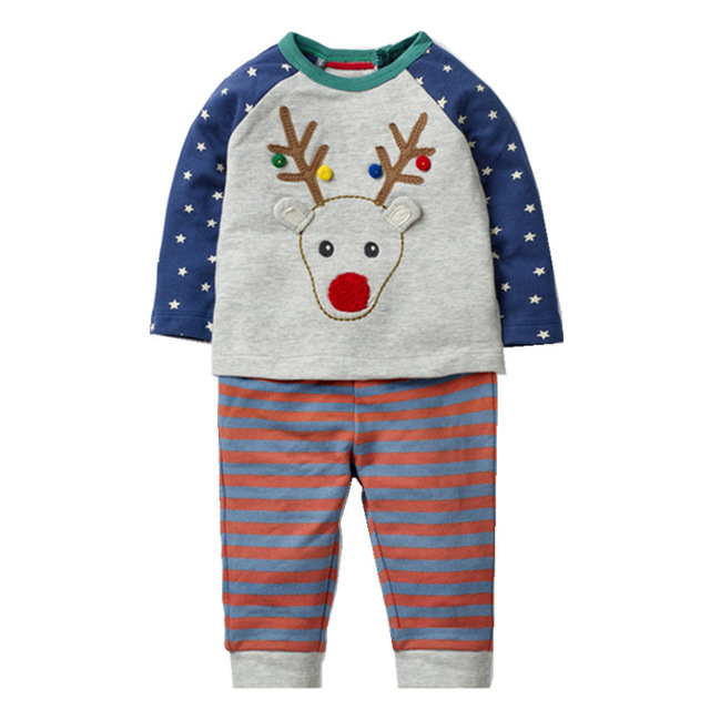 Boys' Animal Printed Cotton Clothes Set
