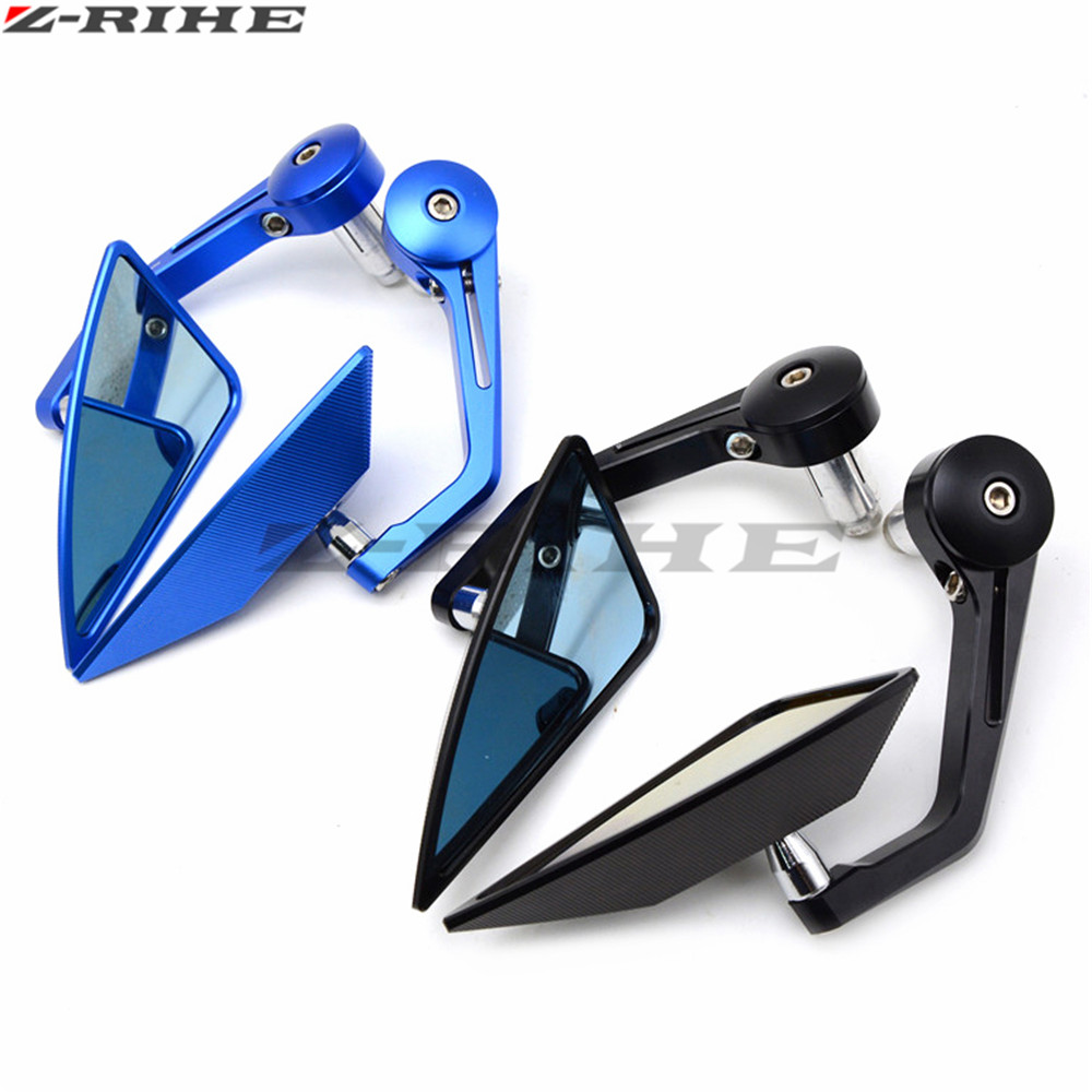 Moto Aluminum CNC motorcycle Side mirror rearview accessories Fits For Kawasaki Z1000 Z800 Z750 EX 300