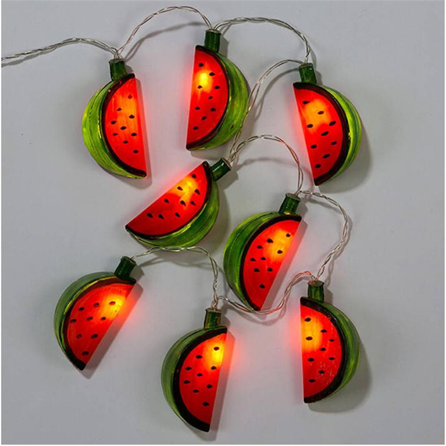 Battery operated LED Pretty Colourful LED String Lights Watermelon Lamp Decoration for Christmas Halloween Festivals Kids Room