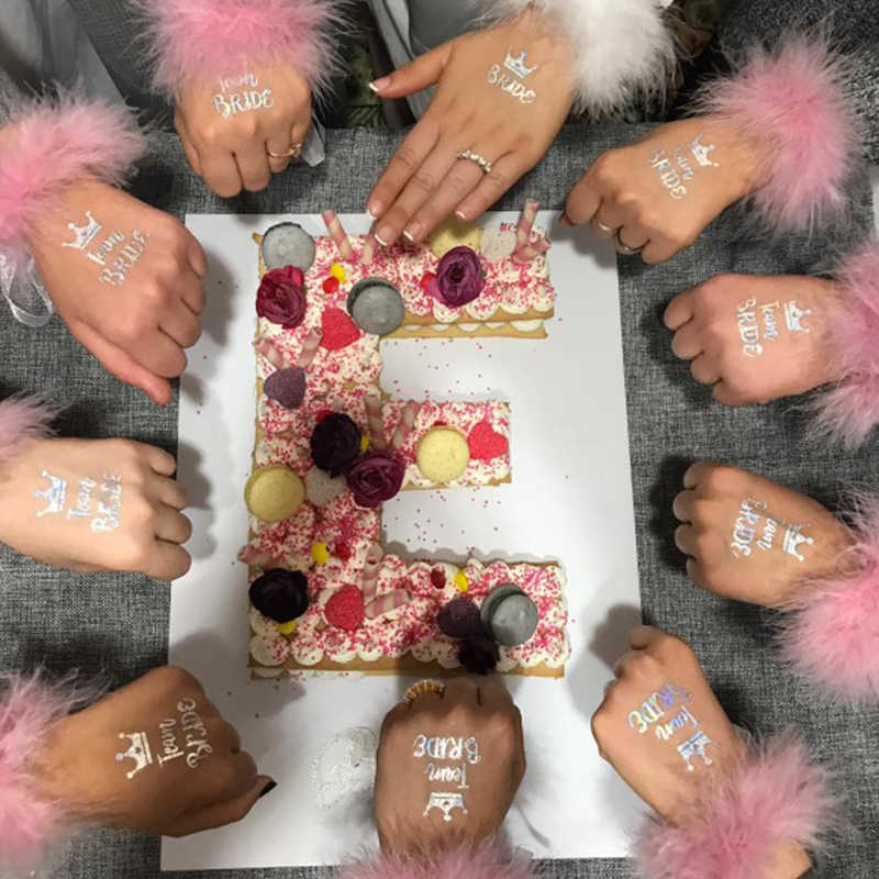 10 шт. свадебное украшение невесты to be татуировки наклейки свадебные принадлежности Команда Невесты Девичник курица вечерние Фламинго Boda