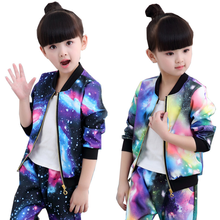 Childrens clothing girls spring and autumn set childrens long sleeve sports two-piece suit