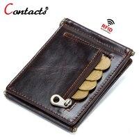 Contant's leather money clip wallet clip money card purse for men money pocket men's wallet card and money cash holder