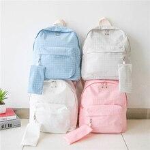 Мода 2016 года школы Рюкзаки Япония и корейский элегантный дизайн рюкзак для Обувь для девочек свежий Карамельный цвет плечи мешок дети Сумки