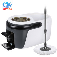 koyida foot four drive mop bucket easy 360 degree rotation magic lazy spin mop head with 1 mophead tb74