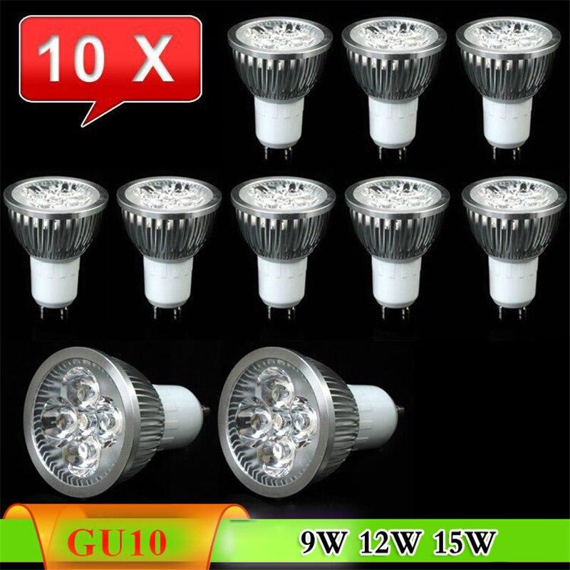 Factory sale 10pcs/lot bulb led spot light bulb lamp GU10 E27 MR16 E14 GU5.3 9w 12W 15W NO Dimmable led lighting free shipping