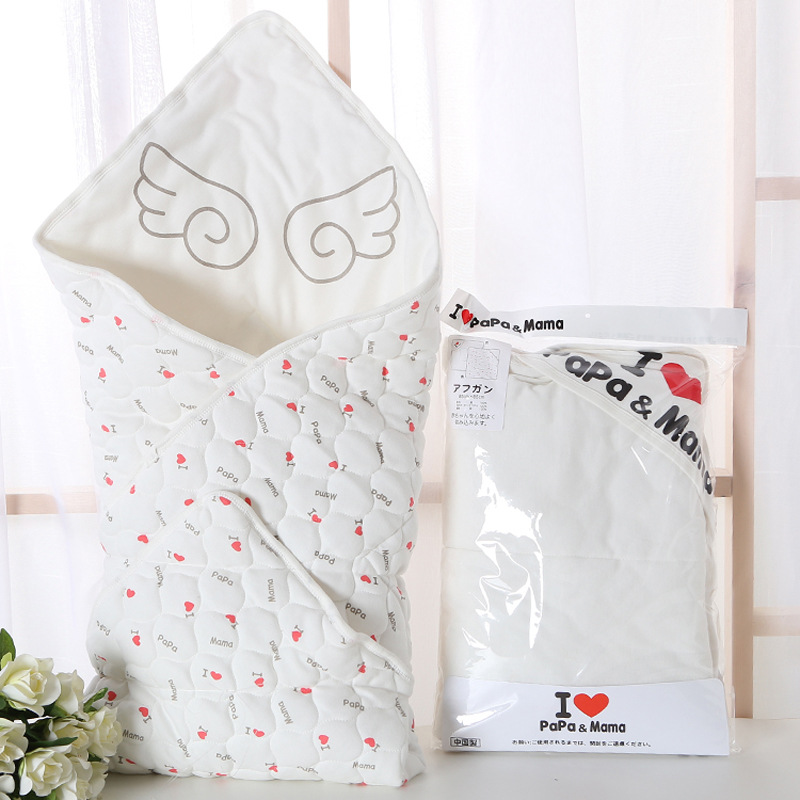 Baby Swaddle 85*85CM Baby Blanket Two sided Hooded Thick Warm Cotton Envelopes For Newborns Infant Wrap Baby Bedding Sleeping
