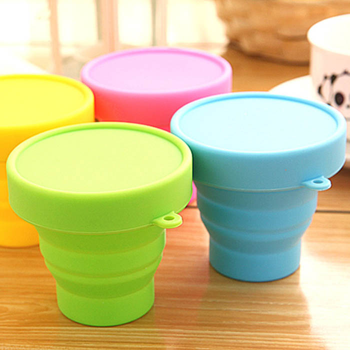 New Retractable Telescopic Folding Cup Tooth Mug for Travel Sport Camping Hiking