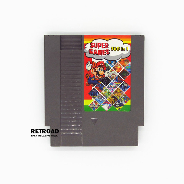 72Pins NES Game Cartridge with super 360 Games In1