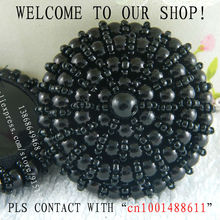 Plastron The entire manual assembly black button 40MM Decorative coat dress Free shipping