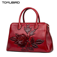 TOMUBIRD new superior cowhide leather Designer Floral Collection famous brand women bag fashion Tote women genuine leather bag